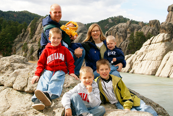 Family of 7.  11/06 in Black Hills
